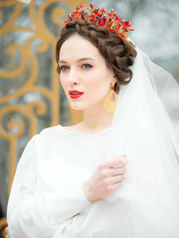 Русские народные прически фото
