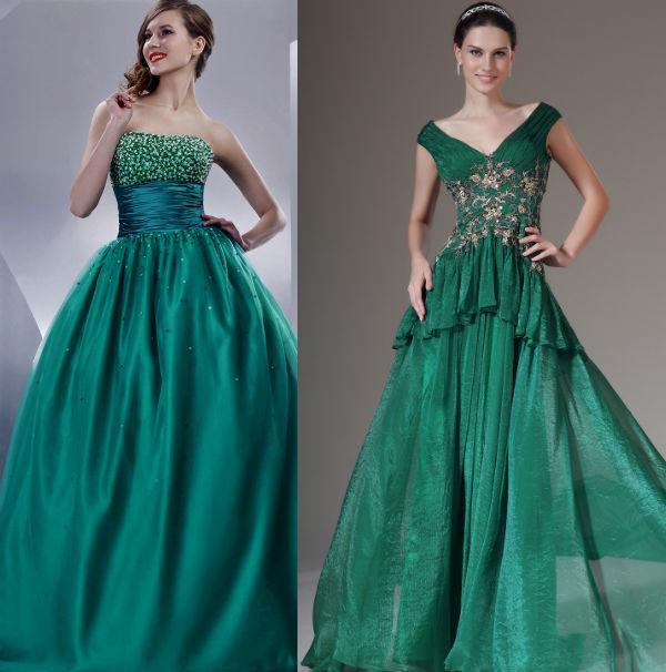 Платья изумрудного цвета сшить фото 768